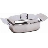 Butter Dish & Lid S/S 250g 0.5lb