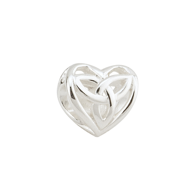 FILIGREE TRINITY KNOT HEART BEAD