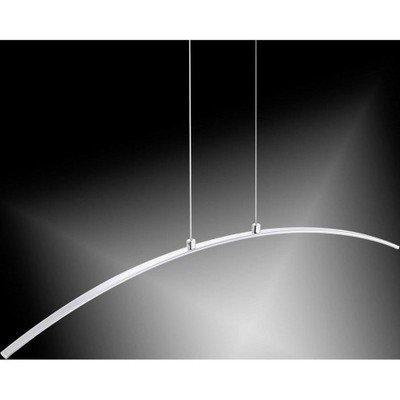 12w LED Curved Chrome Pendant, Warm White Light   LV2102.0005