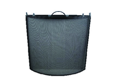 Home Collection Black & Nickel Fire Screen