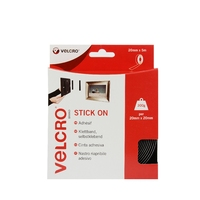 VELCRO BLACK TAPE 20 MM X 5 MTR