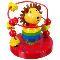 Wooden Lion Bead Frame toy