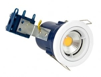 Fixed 240V GU10 Fire Rated Downlight White