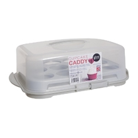 Cupcake Caddy Aluminium/Clear