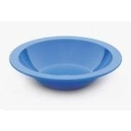 "Antibacterial Narrow Rimmed 6.8"" Bowl Med Blue"