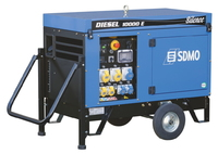 The SDMO 10000E 9 kW Diesel Generator with Kohler KD425-2 OHV, 851cc engine has a 27L fuel tank capacity