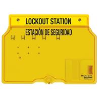 Master Lock 4-lock padlock station, english/spanish, unfilled