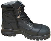 Blundstone 997 Nitrile Sole 300°C Lace Up/Zip Safety Boot&Scuff Cap Black