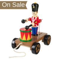 Wooden Drumming Soldier Pull Along