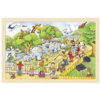 wooden jigsaw puzzle - Visit at the Zoo