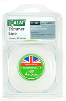 ALM Round Trimmer Line (30m X 1.3mm) For Lightweight Electric Trimmers - SL001