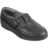 Cosyfeet Black Ladies Shoe (Catherine)