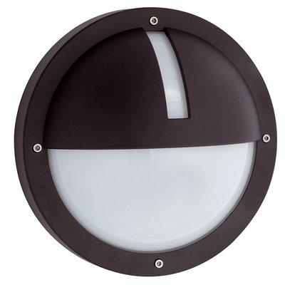 Ansell UNO IP65 Round Wall Light  1X26W PL Black |