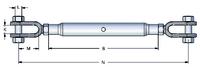 Gunnebo Hot Dip Galvanized Rigging Screw No.401 | Jaw/Jaw