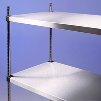 Racking S/S Solid Shelves 4 Tier 900 x 500 x 1800mm