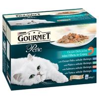 Gourmet Perle Pouch - Ocean Delicacies 85g 12-Pack x 4