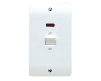 MK LOGIC PLUS  COOKER SWITCH WITH NEON 2 GANG