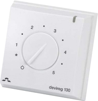 DEVIREG 130 FLOOR SENSING THERMOSTAT,MANUAL, SURFACE