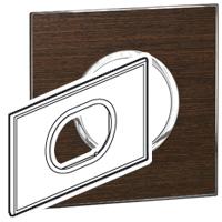 Arteor (British Standard) Plate 3 Module Round Wenge | LV0501.2691