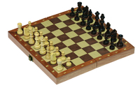 Wooden Chess Set with folding board 30 X 30cm