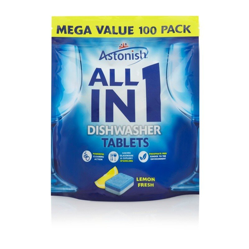 ASTONISH ALL IN ONE DISHWASHER TABLETS 100