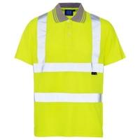 Hi Vis Polo Shirt Yellow Large