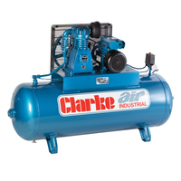 CLARKE 200L Air Compressor 3Hp 230V  SE15C200