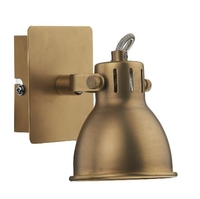 Idaho Single Wall Bracket, GU10 Natrual Brass | LV1802.0031