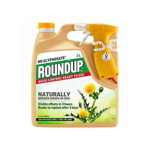 Roundup Natural No Glyphosate Ready to use weed Killer - 3L