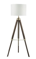 Easel Tripod Floor Lamp Dark Wood, Base Only | LV1802.0147