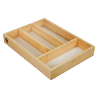 Rubberwood Cutlery Tray