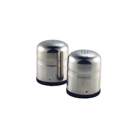 Condiment Set Mini Jumbo Stainless Steel 50mm Highx45mm Dia