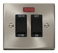 Click Litehouse DECO 20A DP Sink/Bath Switch Black insert