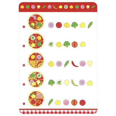 wooden toy pizza set - menu