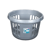 WHAM Round Laundry basket Silver