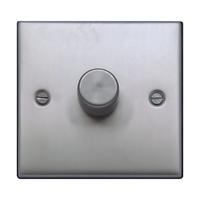 FEP Low Profile Satin Chrome 400w 1G 2W Dimmer Black Insert Chrome Switch | LV0801.0018
