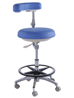 TRONWIND - MICROFIBRE LEATHER BLACK NURSE'S STOOL