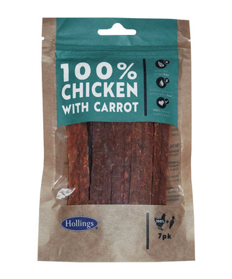 Hollings 100% Natural Chicken Small Bar with Carrot 7pk x 10