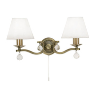 Maita 2 Light Wall Light Antique Brass