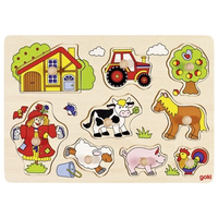 Wooden Peg Puzzle - Farm Life