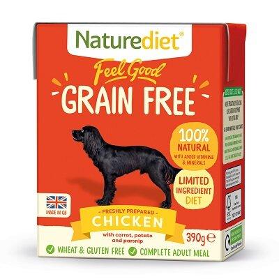 Naturediet Feel Good Grain Free Chicken Dog Food 18 x 390g