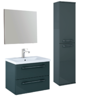 Sonas Otto Plus Gloss Grey Wall Hung Unit Furniture Pack - *Special Offer