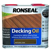 Ronseal Decking Oil 2.5L Natural Oak
