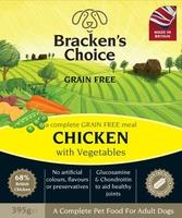 Bracken's Choice GRAIN FREE Dog Trays - Chicken & Veg 395g x 10