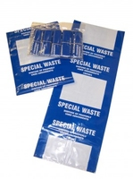 "Waste Disposal Bags Blue ""Used Absorbants"" (10 per pack)"