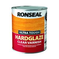 RONSEAL ULTRA TOUGH HARDGLAZE CLEAR VARNISH 750 ML