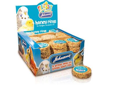 Johnson's Budgie & Parakeet Honey Rings x 45
