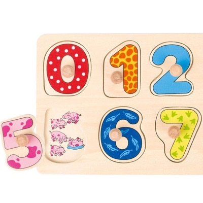 close-up image of counting peg puzzle
