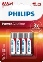 PHILIPS POWER ALKALINE BATTERY AAA 24X4