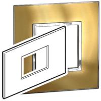 Arteor (British Standard) Plate 3 Module 2 Gang Square Gold Brass  | LV0501.2733